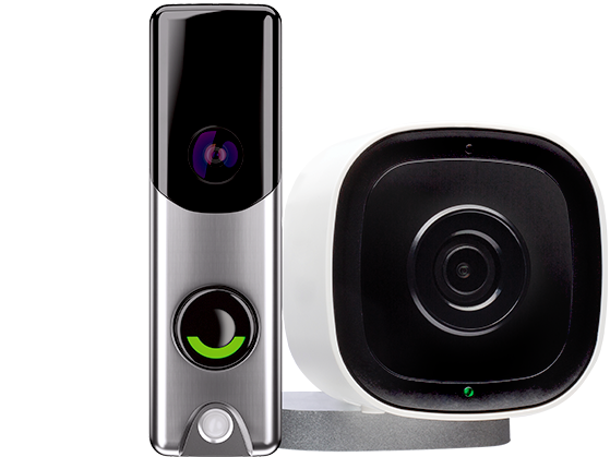 product collection of doorbell and outdoor camera