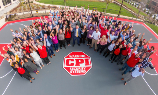 all CPI employees circled around the CPI logo