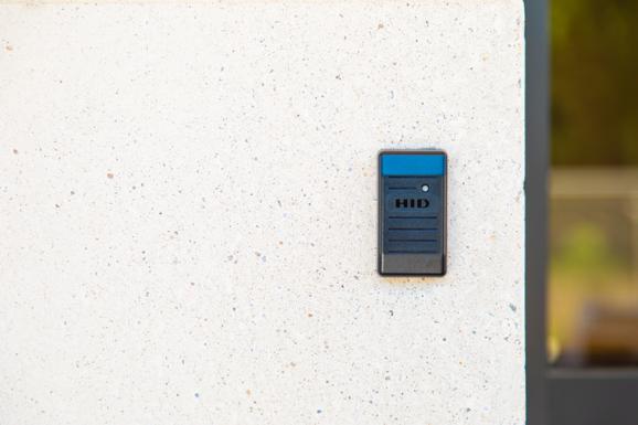 business building keypad