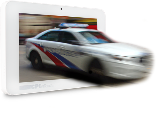 smart hub panel with cop car
