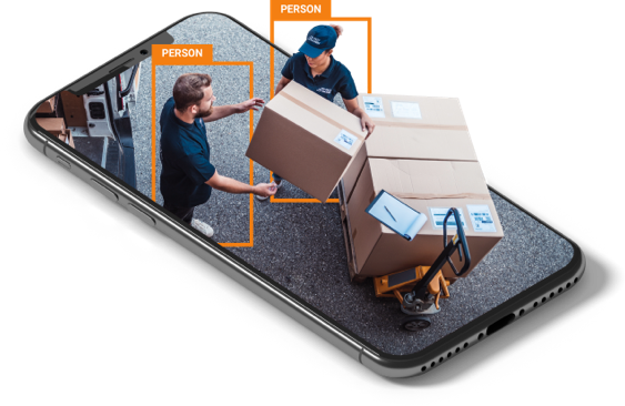 business security system detecting delivery drop off