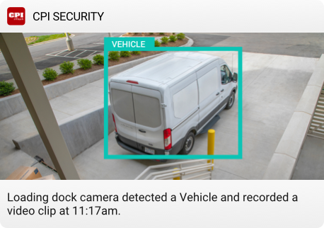 Smart security video notification for business