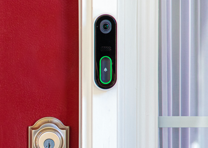 front door camera with CPI video doorbell pro