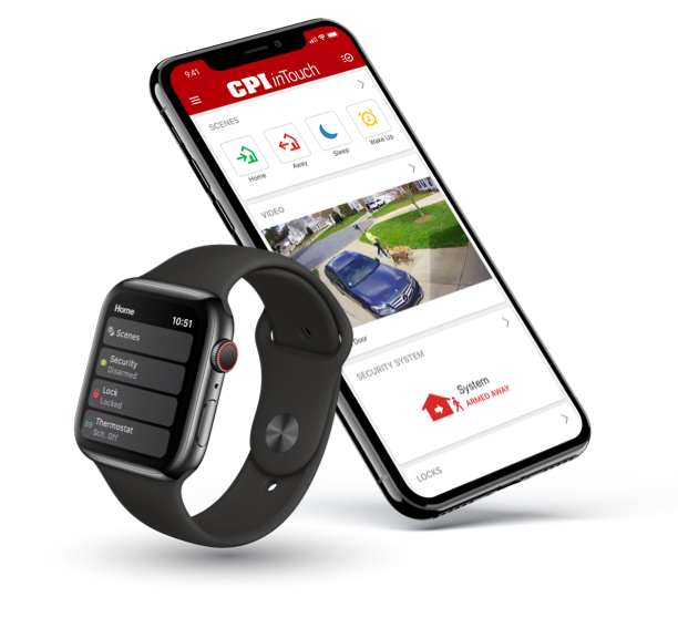 mobile phone and smart watch with the inTouch app